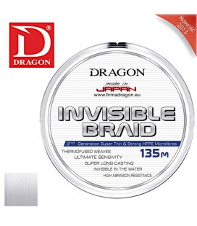 Plecionki Dragon Invisible przezroczyste 135m