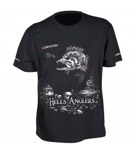 T-Shirty Dragon Hells Anglers Okoń czarne
