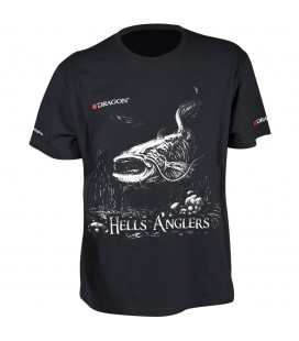 T-Shirty Dragon Hells Anglers Sum czarne