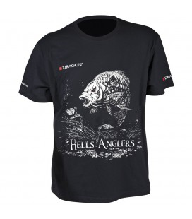 T-Shirty Dragon Hells Anglers Karp czarne