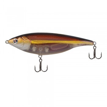 Sebile Stick Shad blood red amber